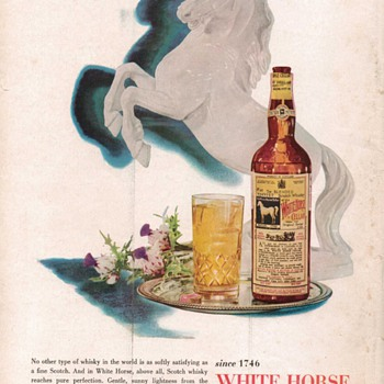 1954 White Horse Scotch Advertisement 1 - Advertising