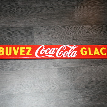 coca cola push bar sign