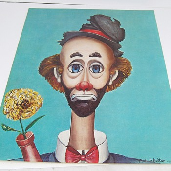 Red Skelton Clown Lithograph 1972 - Posters and Prints
