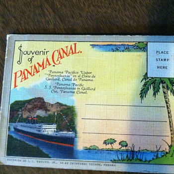 Vintage postcard album Souvenir of Panama Canal - Postcards
