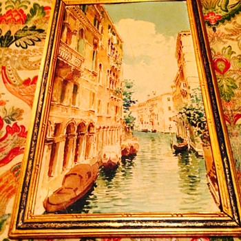 Antique watercolor  view of Venice 3 - Visual Art