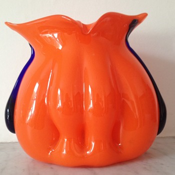 "Kralik tango organic ""organ"" shaped vase - Art Glass"
