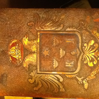Leather notebook of some kind