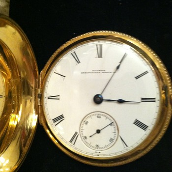 Illinois Watch  Hunter's case Has hidden person, is engraver telling a story? - Pocket Watches