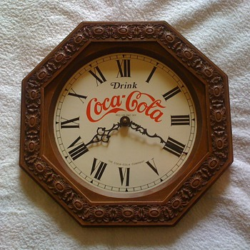 old coca cola clock - Coca-Cola