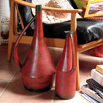 Two stunning Ceramano Aria Vases by Hanns Welling, West German  - Art Pottery
