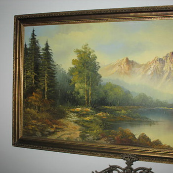 19th century Californian Art - Plein air Painting of Mount Shasta