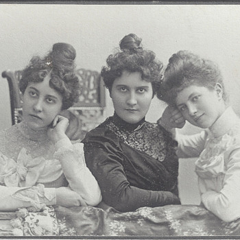 The Three Graces CDV by Emil Flasche of Barmen, Germany