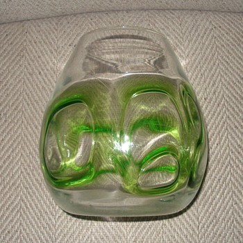 blown glass vase - Art Glass