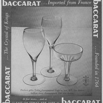 Baccarat Glass Advertisements - Advertising