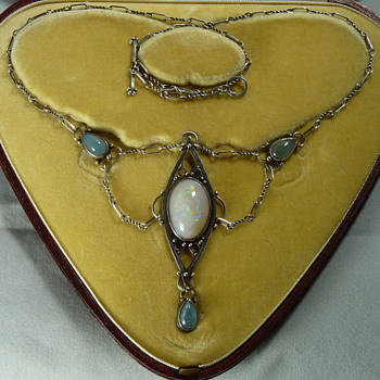 Artificers' Guild Silver, Opal and Moonstone Necklace
