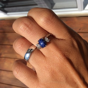 Star sapphire ring!