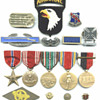 Military medal collecting