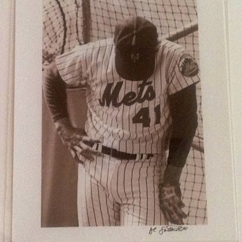 TOM SEAVER BATTING PRACTICE PHOTO