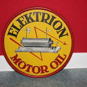 elektrion motor oil tin sign