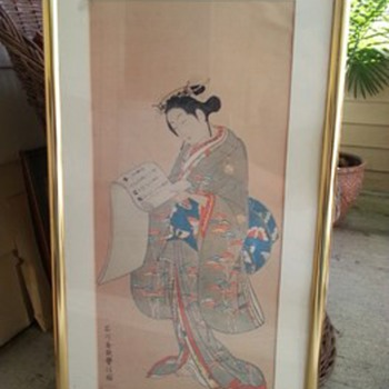 2 Japanese lady print  - Asian