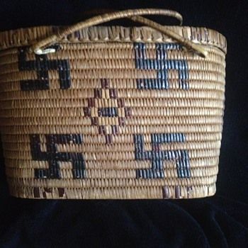 1900 Pima Indian Picnic Basket
