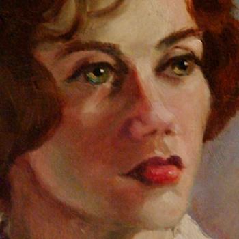 """1960s Lady Portrait By """"Finn"""" - Visual Art"""