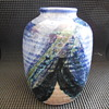 vintage studio art pottery vase Trubel? flea market find