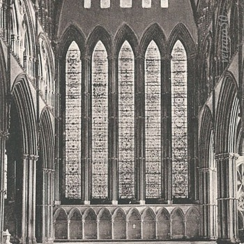 YORK MINSTER, FIVE SISTERS' WINDOW. c. 1885. - Postcards