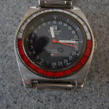 Vintage Tissot PR-516 24 hour Navigator with fixed bezel - Wristwatches