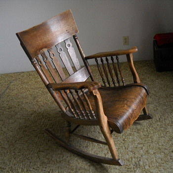 75 Plus Year Old Solid Oak Rocking Chair