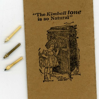 Antique W.W. Kimball Co. Phonograph Pathe Needle Packet  - Records