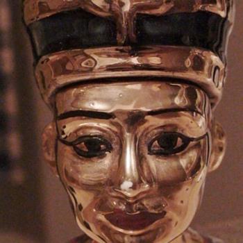 1979 Michter's Miniature Queen Nefertiti 23 Carat Gold Plated (?) Decanter  - Bottles