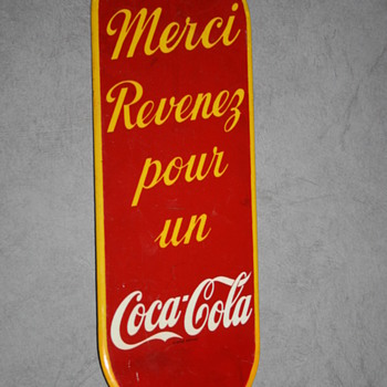 coca cola push sign