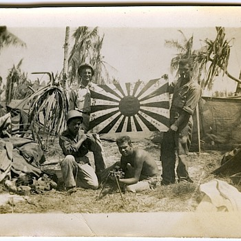 Captured Japanese Flag - Military and Wartime