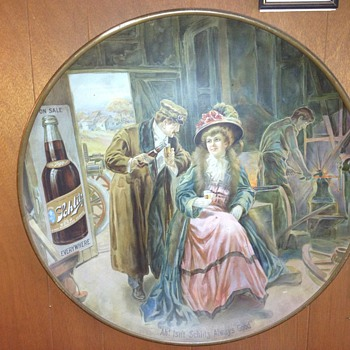 Schlitz collectible wall plate.