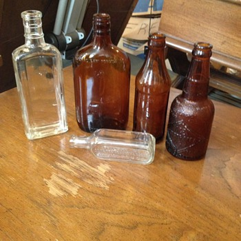 Various bottles from box lot not sure what kind