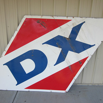 1959 Porcelain DX sign