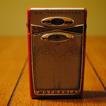 1959 Red Motorola Transistor Radio Model X11RJ