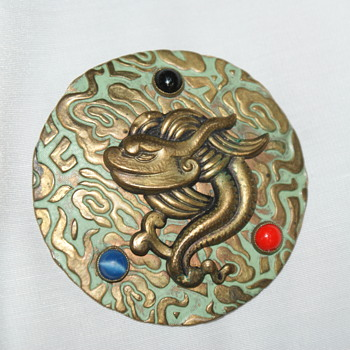 Interesting Vintage Brooch - Asian Inspired