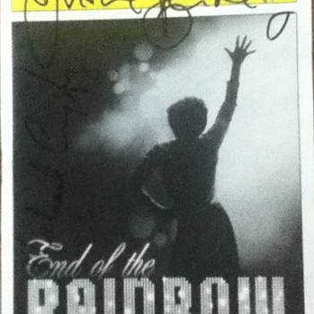 """End of the Rainbow"" Signed Playbill - Paper"