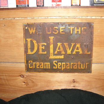 delaval cream separatur sign - Signs