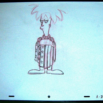 one of my simpsons final pencil cels