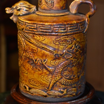 Old Dragon Rice Wine Jug
