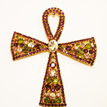 Vintage Alice Caviness Massive Ankh Brooch/Pin/Pendant - Costume Jewelry