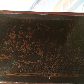 Antique Chinese Chest with Artwork