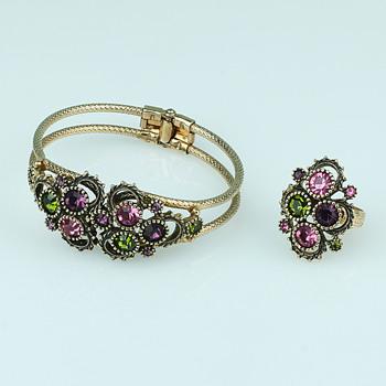 Austrian Lites demi parure Sarah Coventry - Costume Jewelry
