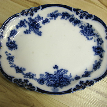Flow Blue Plate found at Flea Market