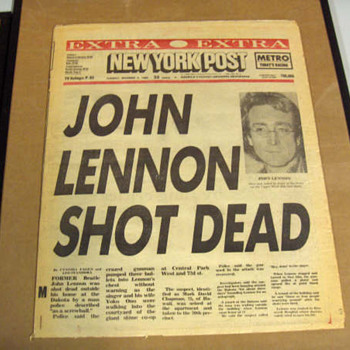 1st edition-New York Post-Dec. 9, 1980...