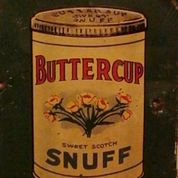 "Vintage ""Buttercup Sweet Scotch Snuff"" Door Pull Granny's Favorite! - Tobacciana"