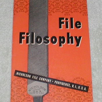 Nicholson File Co. - File Filosophy - Paper