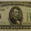 $5 Silver Certificate & Federal Reserve Notes 1934 & 1950 & 1953