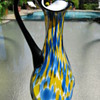 Gorgeous Czechoslovakia Art Deco Spatter Glass Ewer 1930's