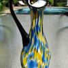 Gorgeous Czechoslovakia Art Deco Spatter Glass Ewer 1930's