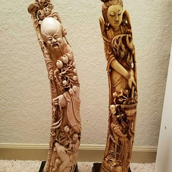 Pair of Chinese Carvings